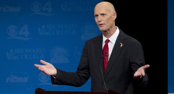 "Gov. Rick Scott Banned Talk of ""Global Warming"" and ""Climate Change"". Image: KCTV"
