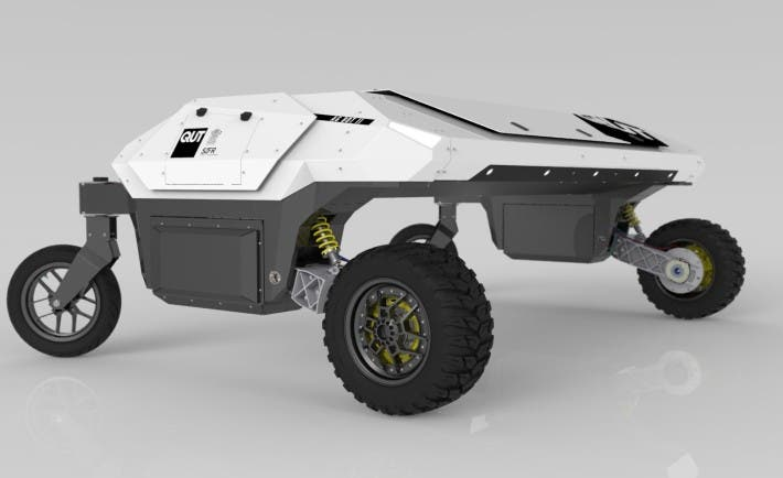 AGBOT II: Agricultural robot developed at the Queensland University of Technology for weed and crop management in broadacre as well as horticulture applications. Image: QUT