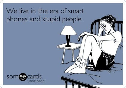 smartphone dumb people