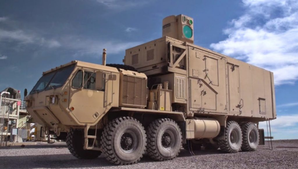 The High Energy Laser Mobile Demonstrator (HEL MD) onto which ATHENA was mounted. Image: US ARMY