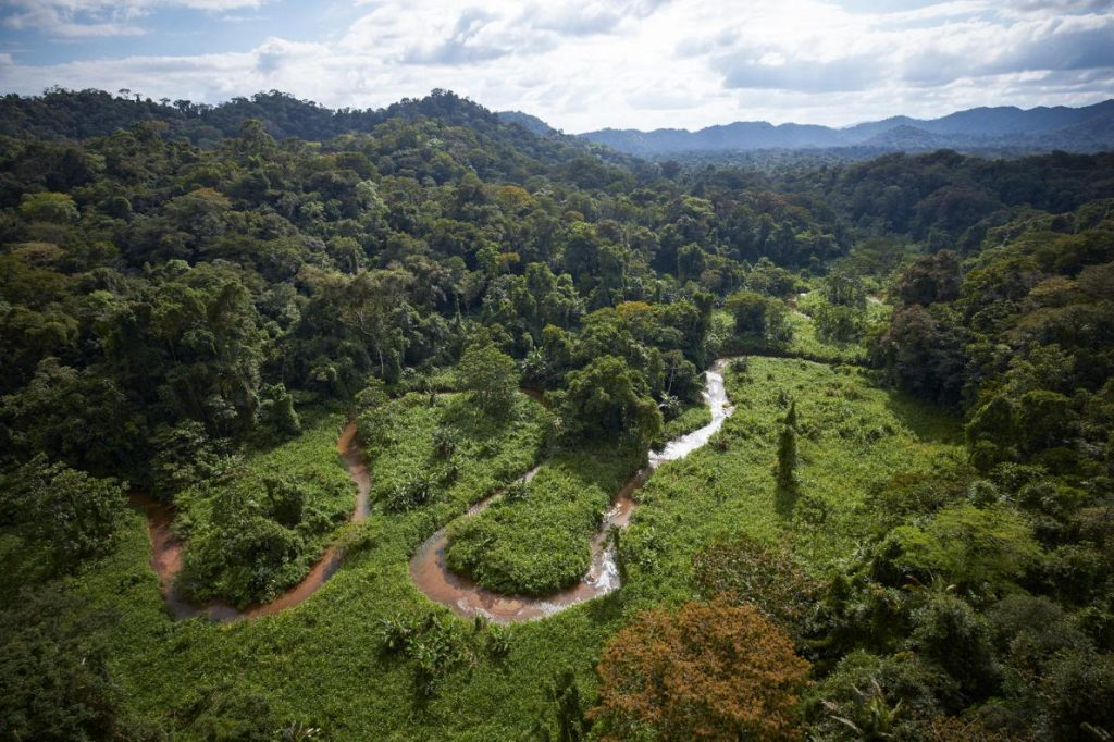 "A unexplored valley in Mosquitia in eastern Honduras, a region long rumored to contain a legendary ""White City,"" also called the City of the Monkey God.  PHOTOGRAPH BY DAVE YODER, NATIONAL GEOGRAPHIC"