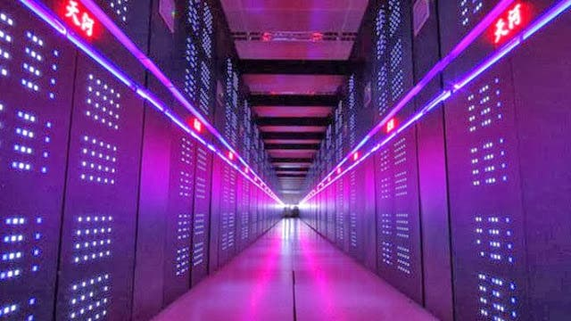 One of Tianhe-2's corridors - the current most powerful supercomputer in the world. Image: Intel