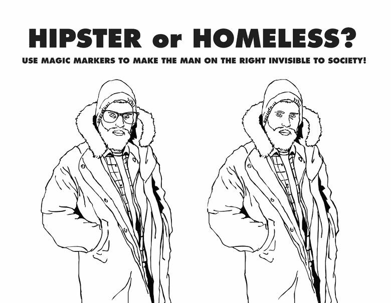 hipster vs homeless