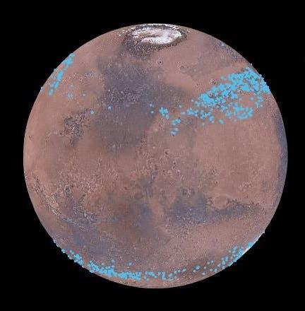 Mars may have many non-polar glaciers.