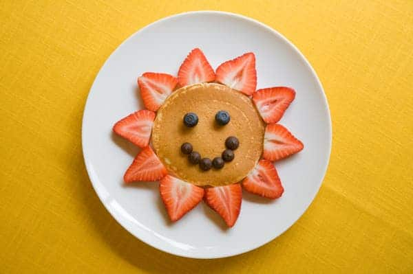 smiley face labels can encourage kids to eat healthier food. Black Bedroom Furniture Sets. Home Design Ideas