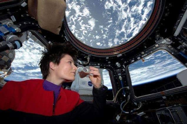 first coffee in space