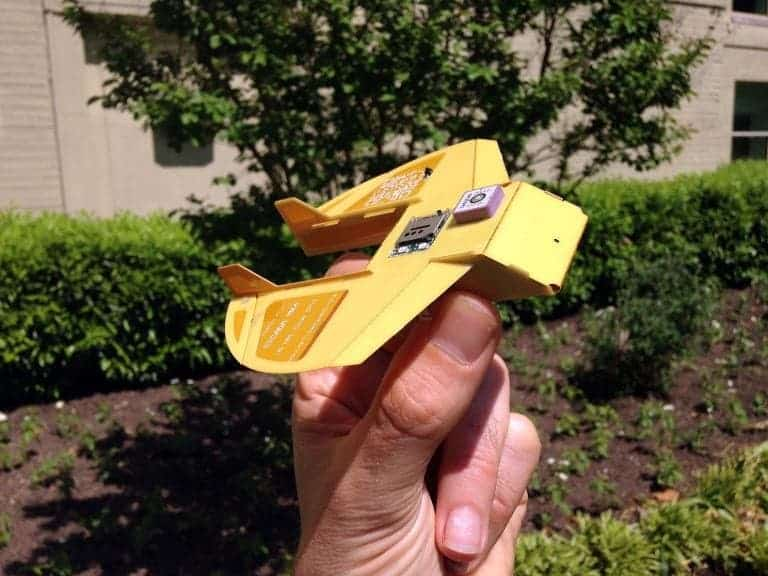"Cicada, the ""paper airplane with a circuit board"". Image: © AFP Laurent Barthelemy"