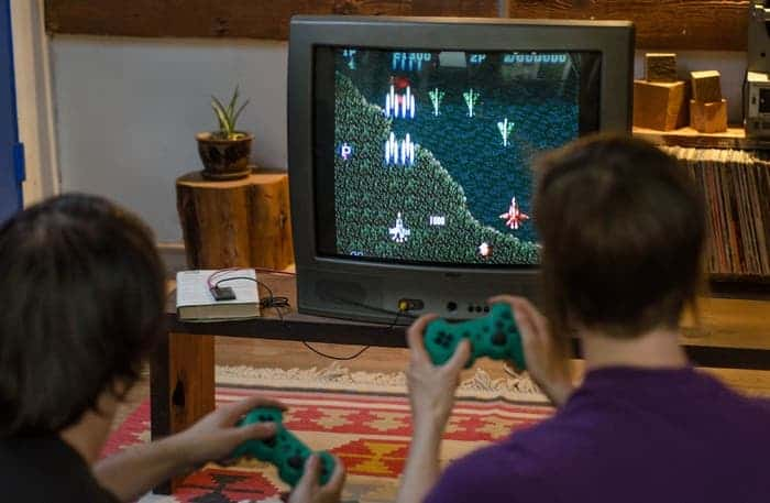 A demo of a video games played on CHIP. Image: Kickstarter