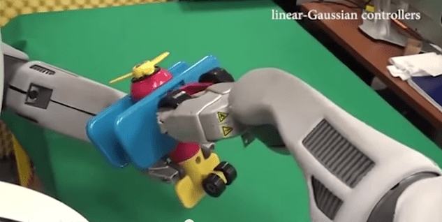The BRETT assembling a toy airplane. Image: YouTube