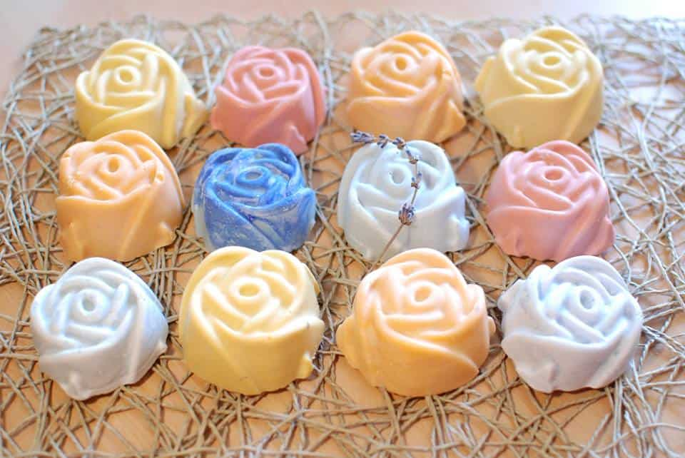 You can make soaps into any shape and color you want!