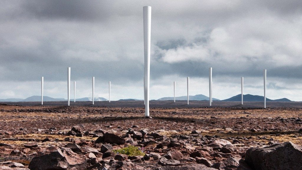These wind turbines harness oscillations made by vortices  instead of rotary movement. Image: Vortex Bladeless