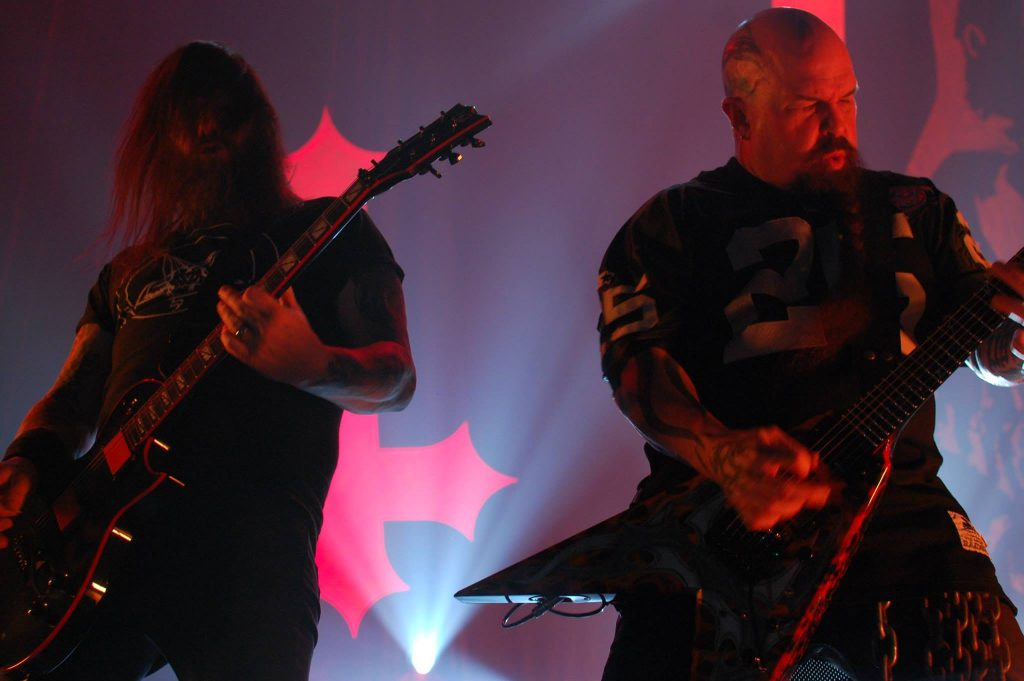 Heavy metal band Slayer playing live. Photo: Metal Underground