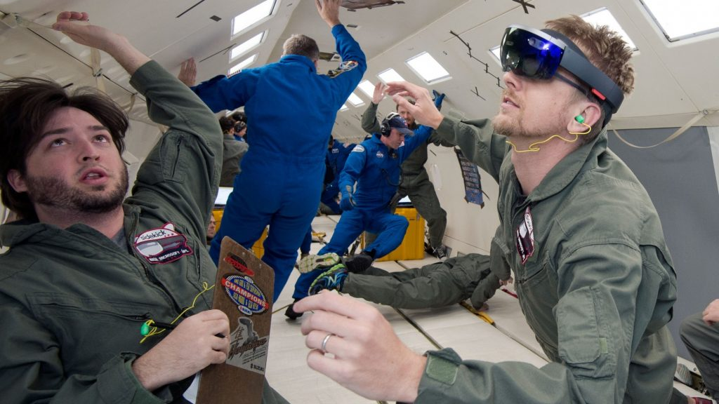 Photo of Sidekick tested in zero-g. Image: NASA