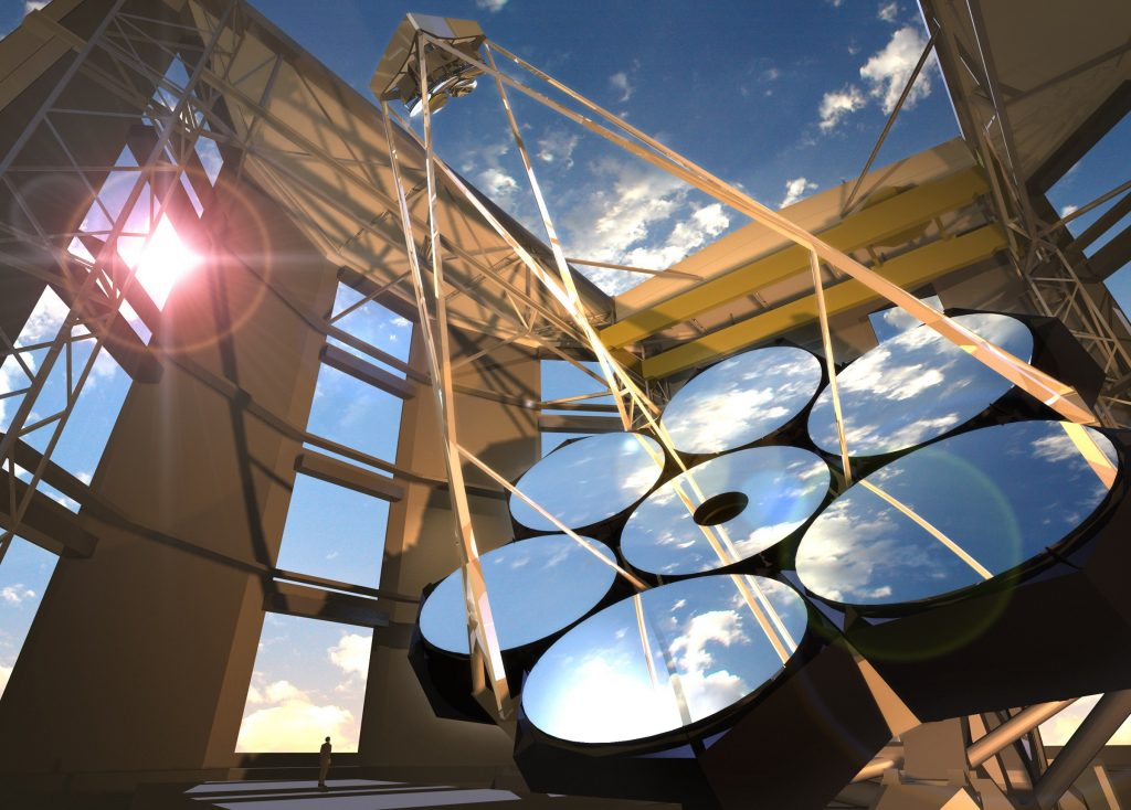 Artist impression of Giant Magellan Telescope. Image: GMTO
