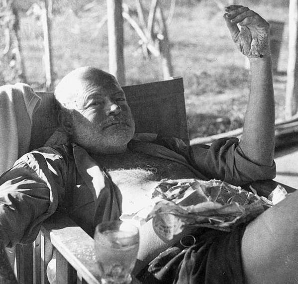 Hemingway late in his life.