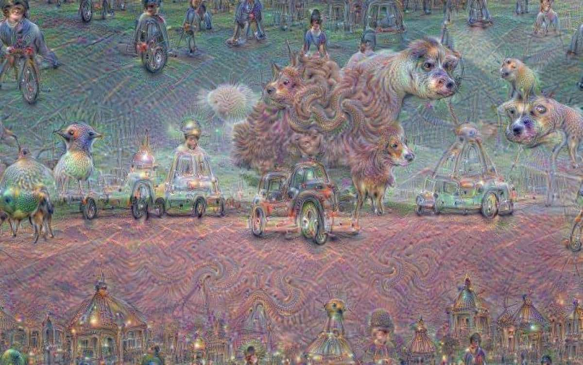 "What the heck is this? This just how a computer ""dreams"", of course. Image: Google Research"