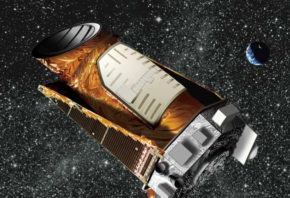 Artistic representation of the Kepler Telescope. Image via Wikipedia.