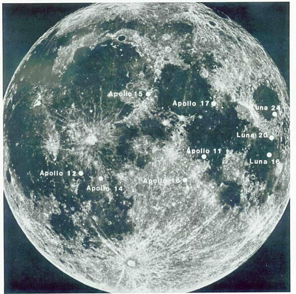 diagram of the apollo moon landings s surface - photo #10