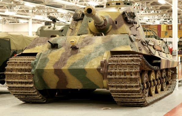 German Tiger Aufs. B, arguably one of the most iconic heavy tanks of world war II. Image via: goodfon.su