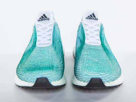 sneakers made from recycled ocean trash
