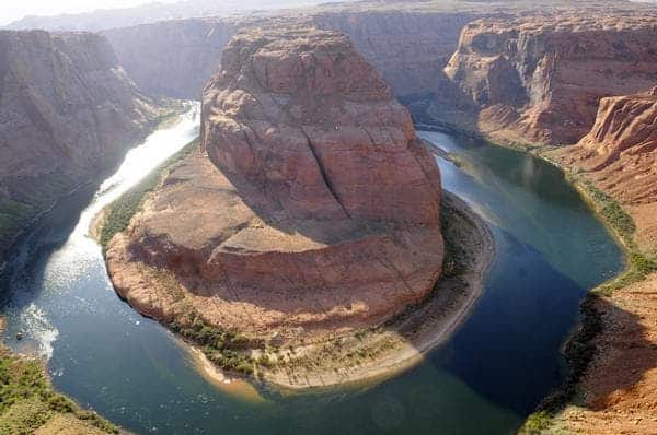Horseshoe Bend displays the scenery and solitude of the Colorado River in the upper reaches of the Grand Canyon. Fishing on the river is peaking as temperatures are ideal for spring midge hatches. Image: Denver Post