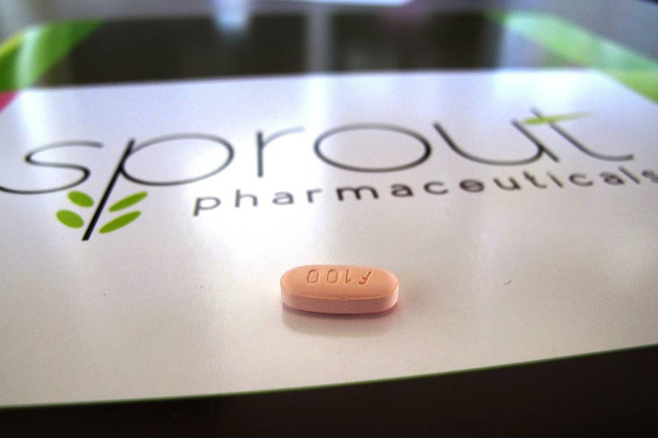 Flibanserin is a 100 mg tablet taken daily at bedtime that is under review forhelping women with low sexual desire to have more satisfying sexual experiences and less emotional distress. Photo credit: Sprout Pharmaceuticals