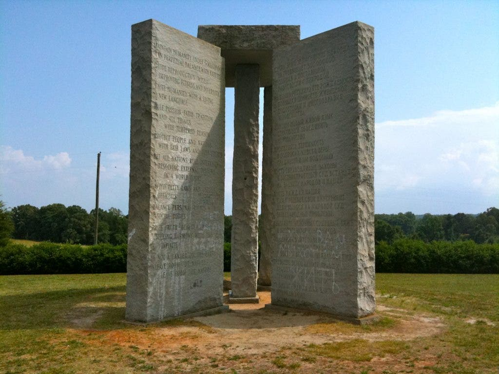 Georgia Guidestones -- mysterious instructions for the post-apocalypse