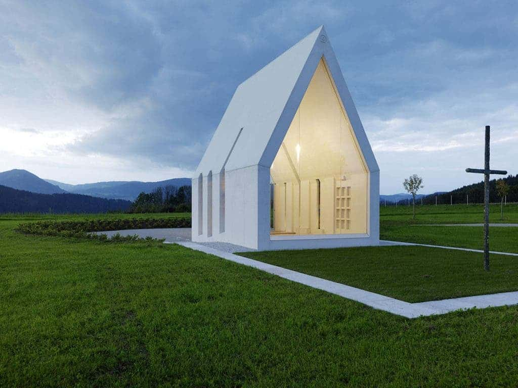 Modern minimalist chapel in austria is a new take on an for Modern architecture concept