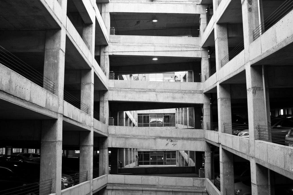 concrete parking garage