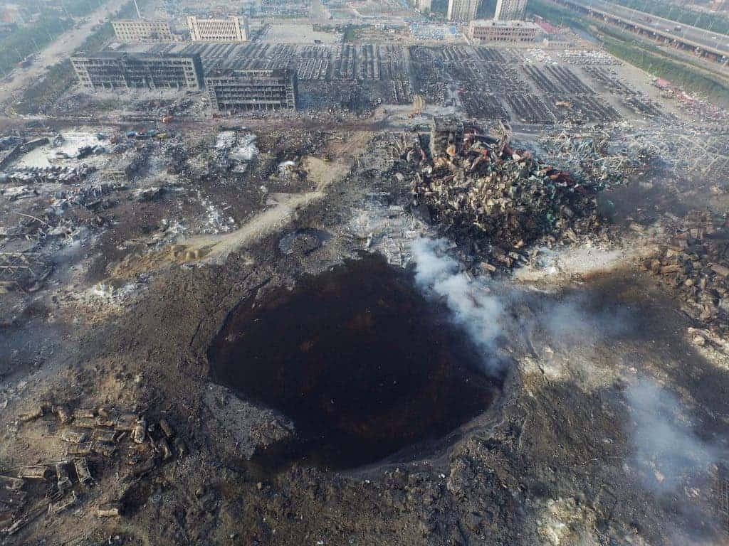 Tiajin crater explosion