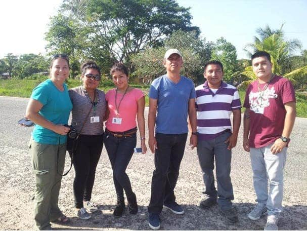 The Trio community survey team (left to right): Kristin Drexler, Leanne Torres, Urani Garcia, Gonzalo Castillo, Pedro Cho, and Chris Pech