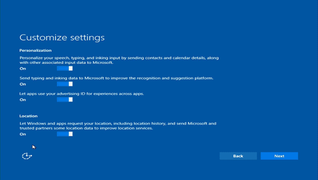 windows 10 customize settings