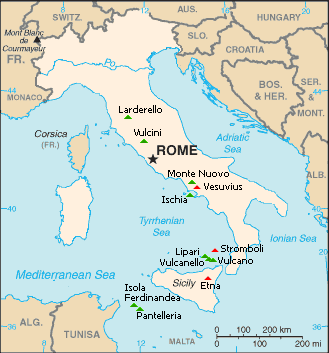 Everything About The Volcanoes In Italy - Mount vesuvius map