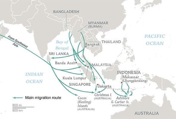 Southeastern Asia route
