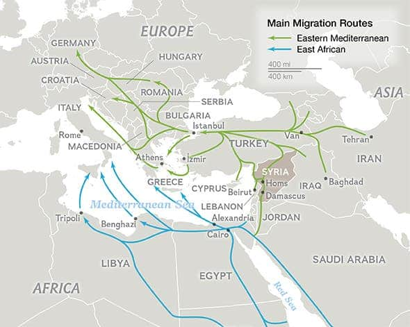 Eastern Mediterranean Route by National Geographic