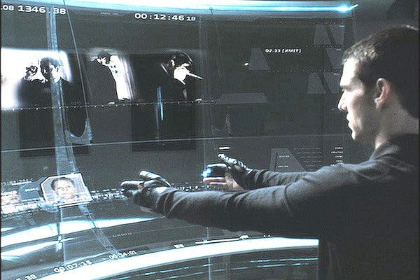 Screenshot from the movie Minority Report.