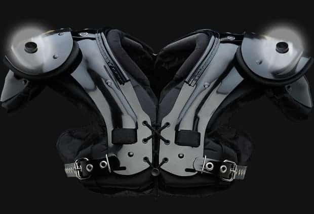 How the embedded sensors look like in each shoulder pad. Image:  Zebra Technologies