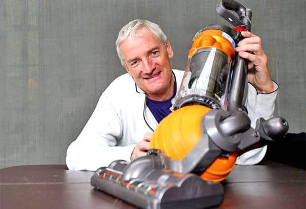 James Dyson and one of his vacuum cleaners. Image: Dyson