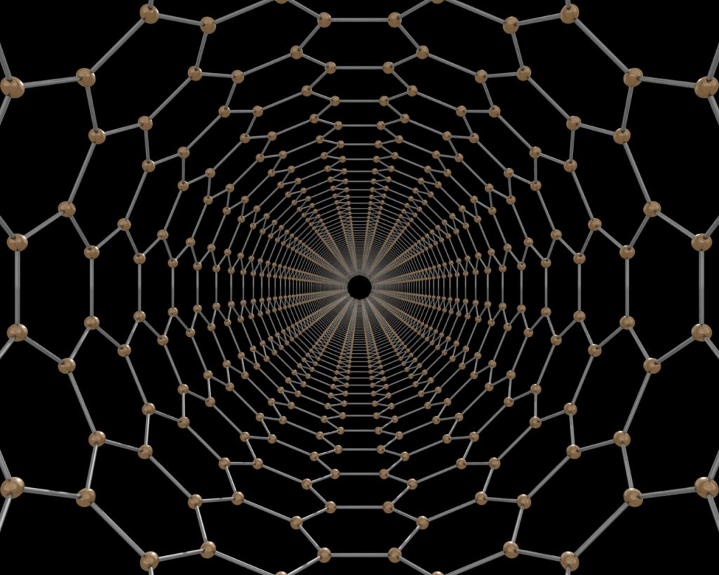 What a carbon nanotube looks like on an atomic level. Image: Nanotechmag