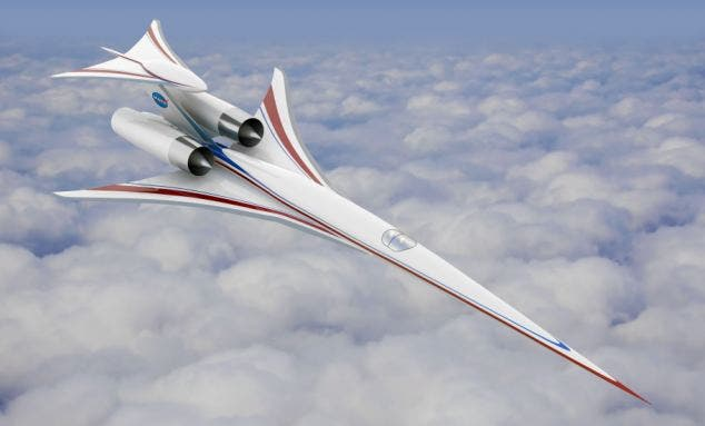 Artist rendering of l of a concept supersonic aircraft built by The Boeing Company.  Image: Boeing