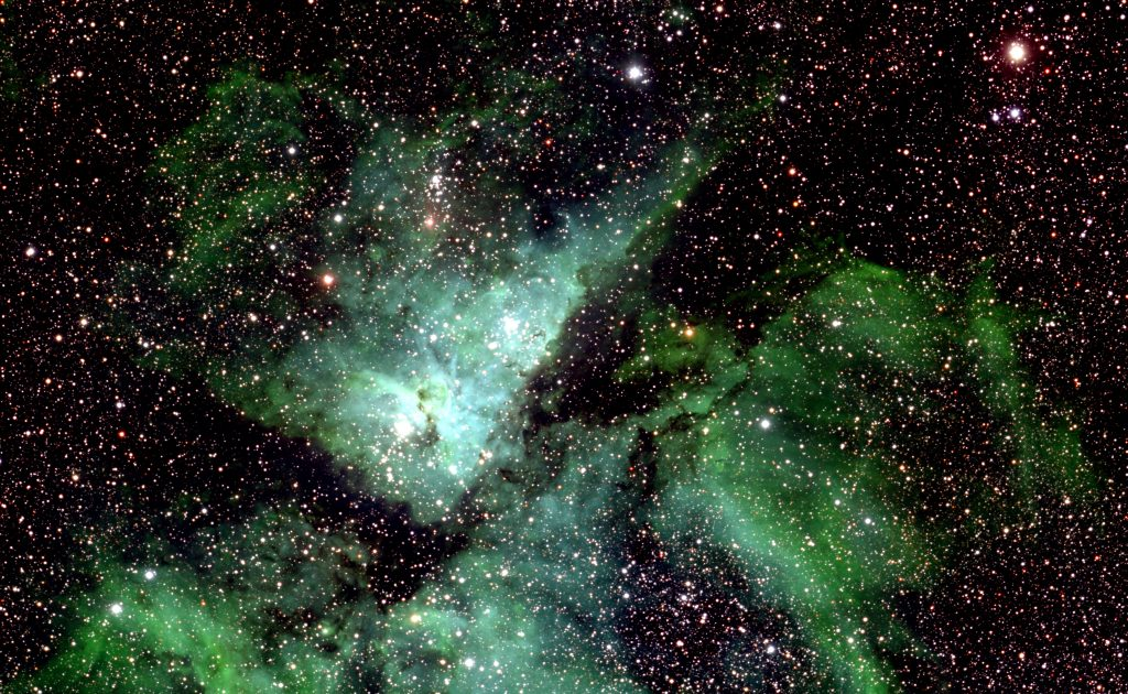 A small section of the Milky Way photo showing Eta Carinae. © Lehrstuhl für Astrophysik, RUB