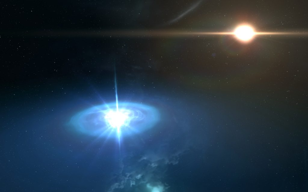 Artist illustration of Pulsar in J140135. Credit: NASA