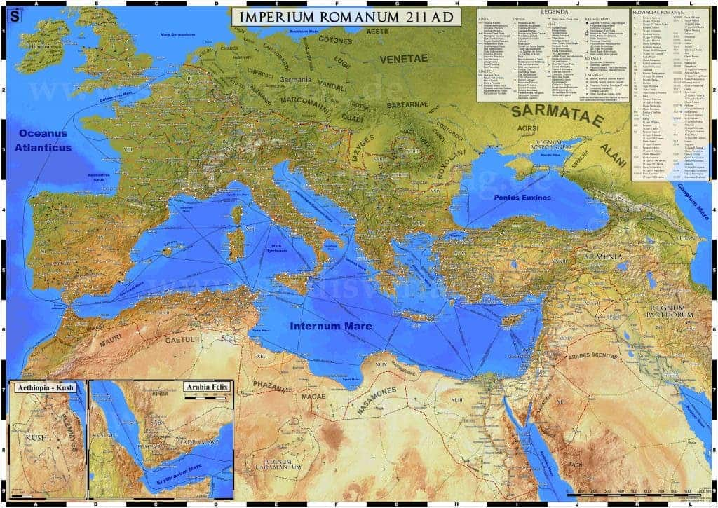 rome empire map