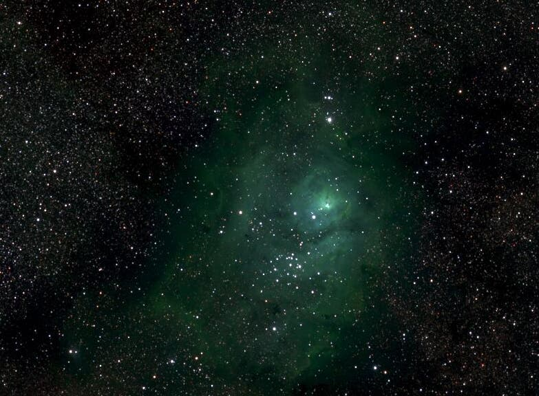 Another section, this time showing the M8 nebula. © Lehrstuhl für Astrophysik, RUB