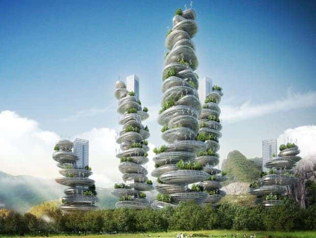 Asian Cairns, designed by Vincent Callebaut for Shenzhen. (Vincent Callebaut Architectures)
