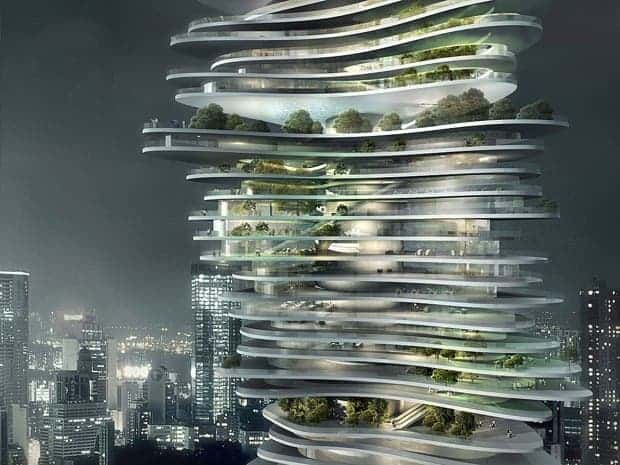 Urban Forest, designed by MAD for Chongqing (MAD)