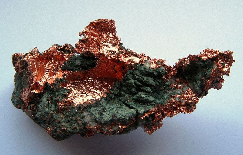 Native copper. Image via wikimedia