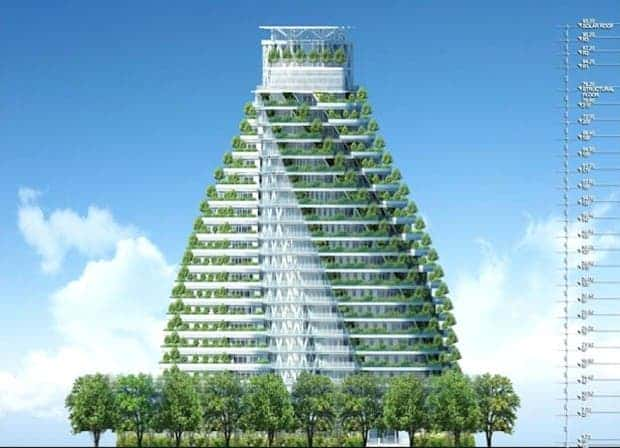 Agora Tower, designed by Vincent Callebaut for Taipei. (Vincent Callebaut Architectures)