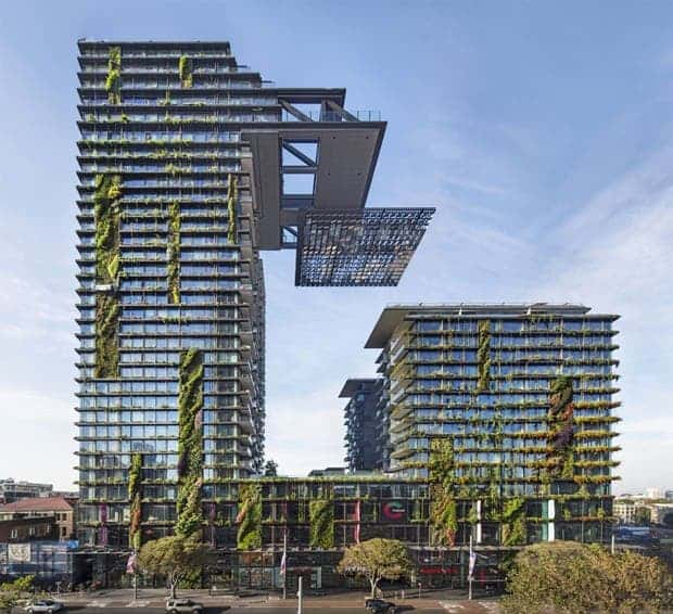 One Central Park, designed by Jean Nouvel with Patrick Blanc, for Sydney. (Murray Fredericks/Frasers Property)