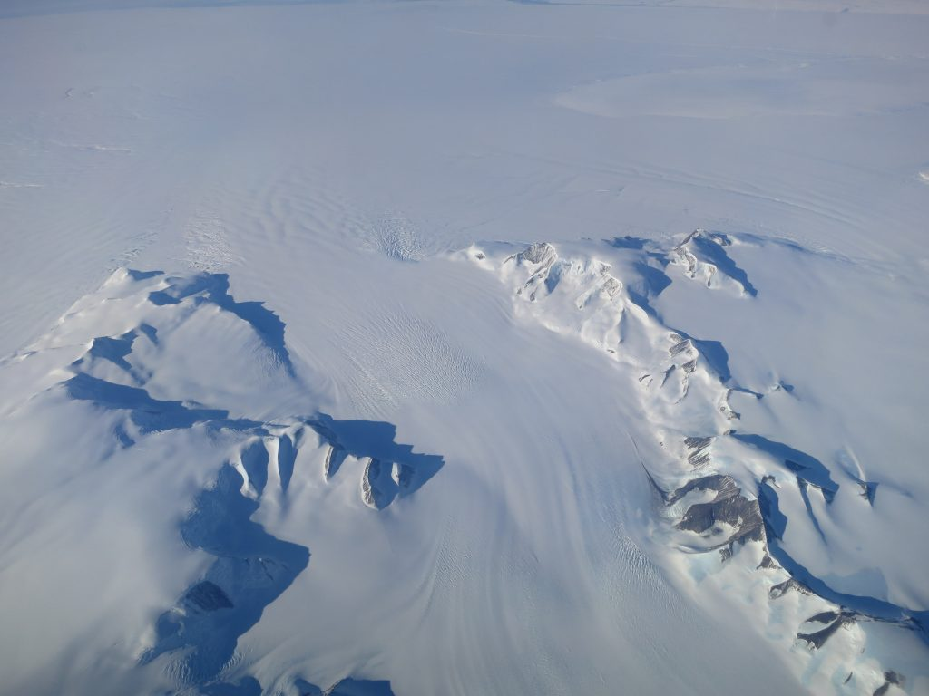 A new NASA study says that Antarctica is overall accumulating ice. Credits: NASA's Operation IceBridge
